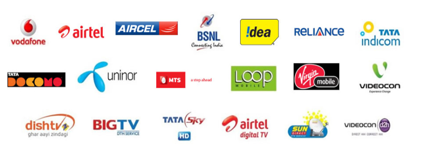 MOBILE AND LANDLINE BILL PAYMENT COLLECTION VODAFONE BILL PAYMENT, AIRTEL BILL PAYMENT, BSNL BILL PAYMENT, IDEA BILL PAYMENT, RELIANCE BILL PAYMENT, TATA DOCOMO BILL PAYMENT, DTH RECHARGES, PREPAID RECHARGES AND MORE